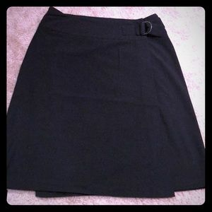Super cute black wrap skirt with buckle detail